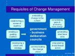 requisites of change management4