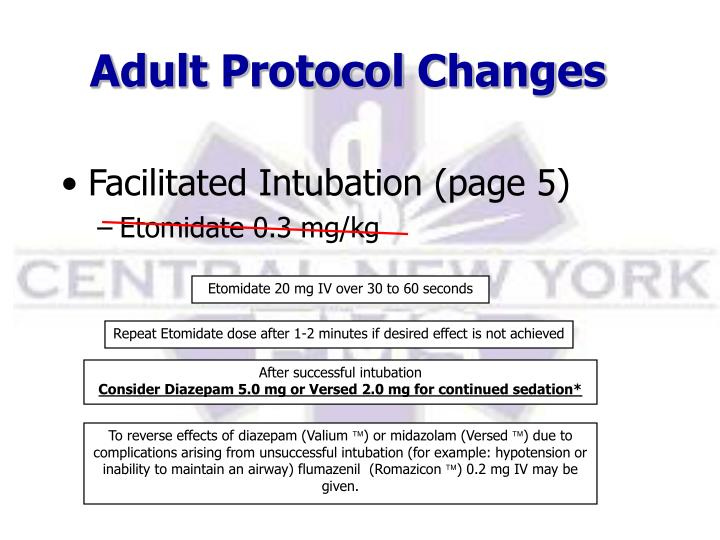 Adult Protocol Changes