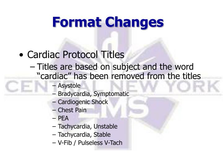 Format Changes