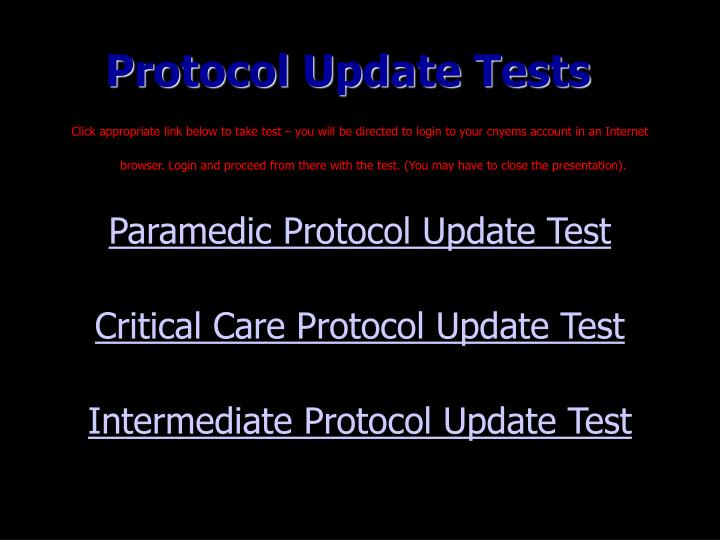 Protocol Update Tests
