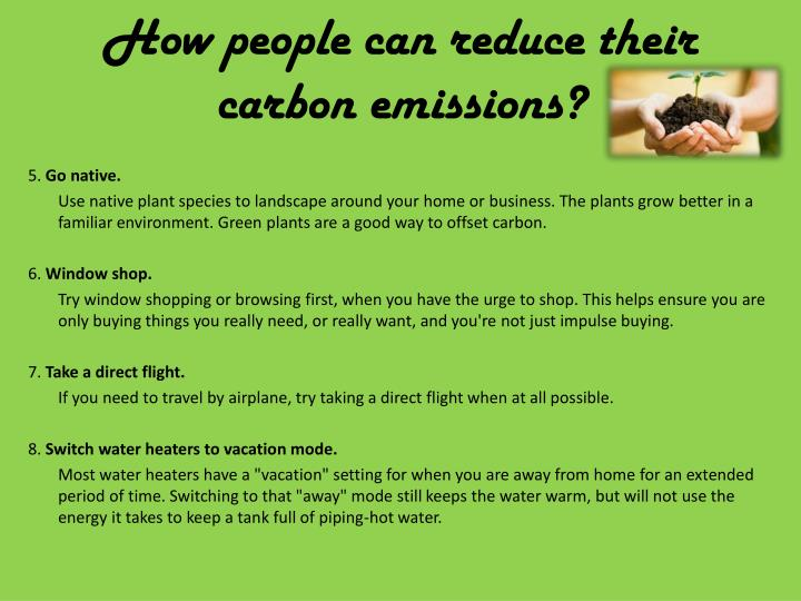 How people can reduce their carbon emissions1