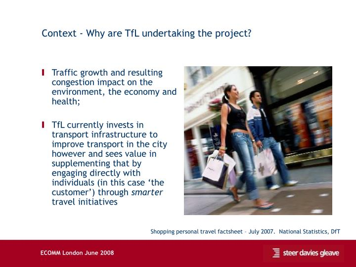 Context - Why are TfL undertaking the project?