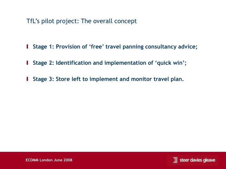TfL's pilot project: The overall concept