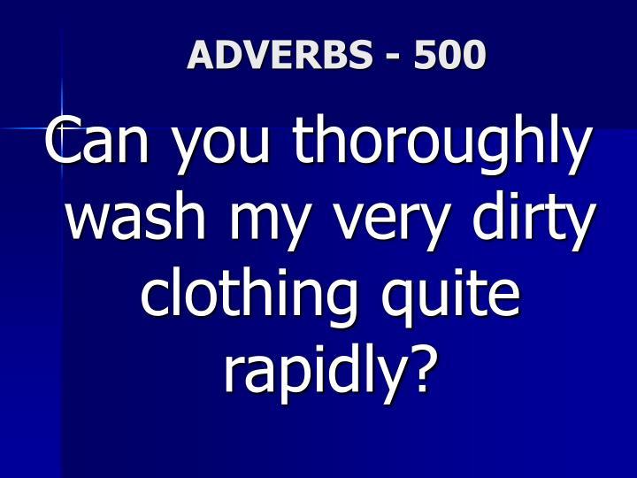 ADVERBS - 500