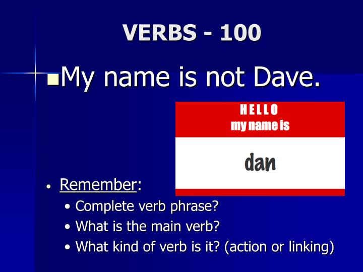 VERBS - 100
