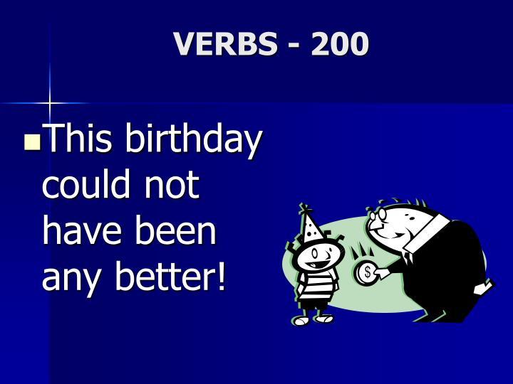 VERBS - 200