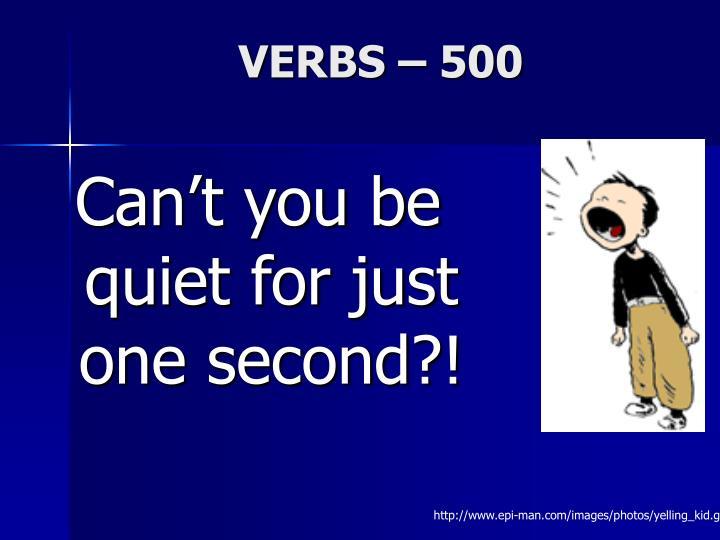VERBS – 500