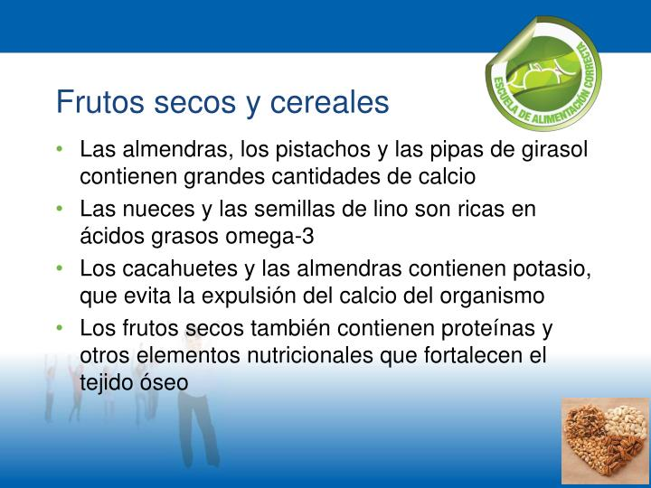 Frutos secos y cereales
