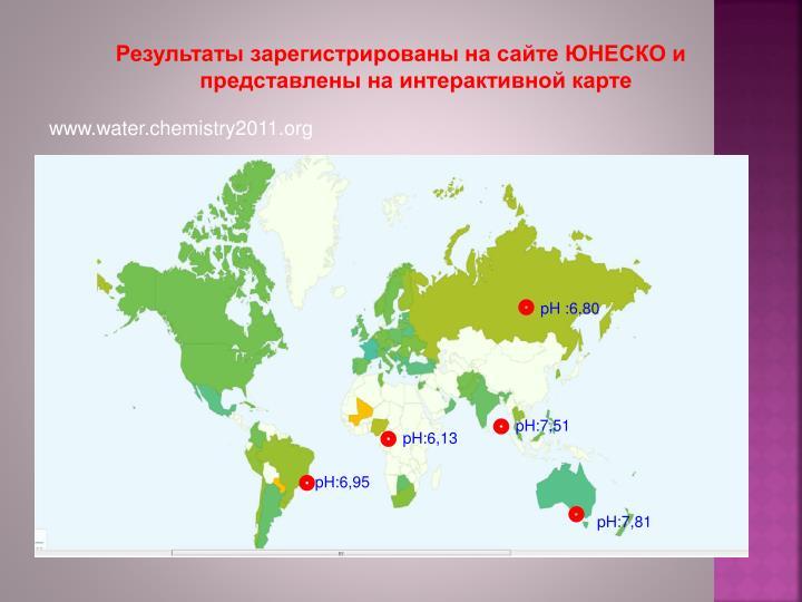 Результаты зарегистрированы на сайте ЮНЕСКО и представлены на интерактивной карте