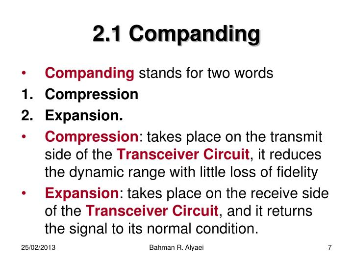 2.1 Companding