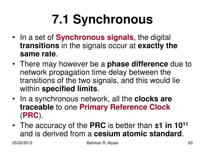7.1 Synchronous