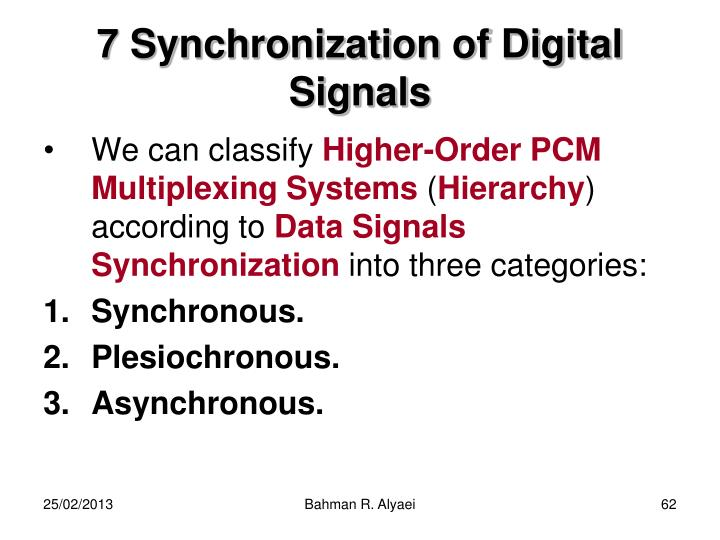 7 Synchronization of Digital Signals