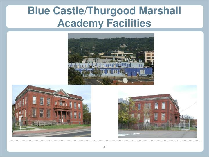 Blue Castle/Thurgood Marshall Academy Facilities