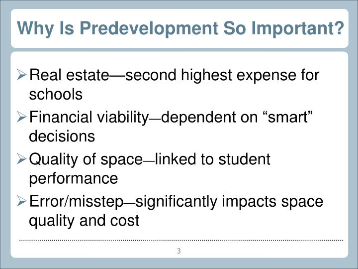 Why Is Predevelopment So Important?
