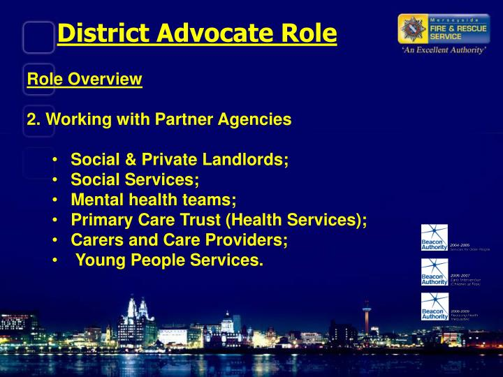District Advocate Role