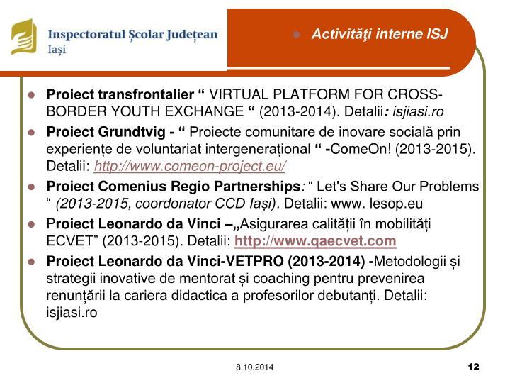 """Proiect transfrontalier """""""