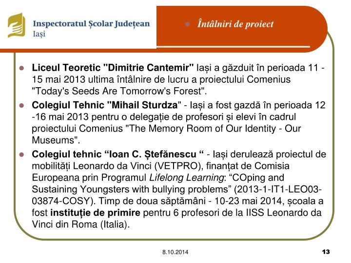 """Liceul Teoretic""""Dimitrie Cantemir"""""""