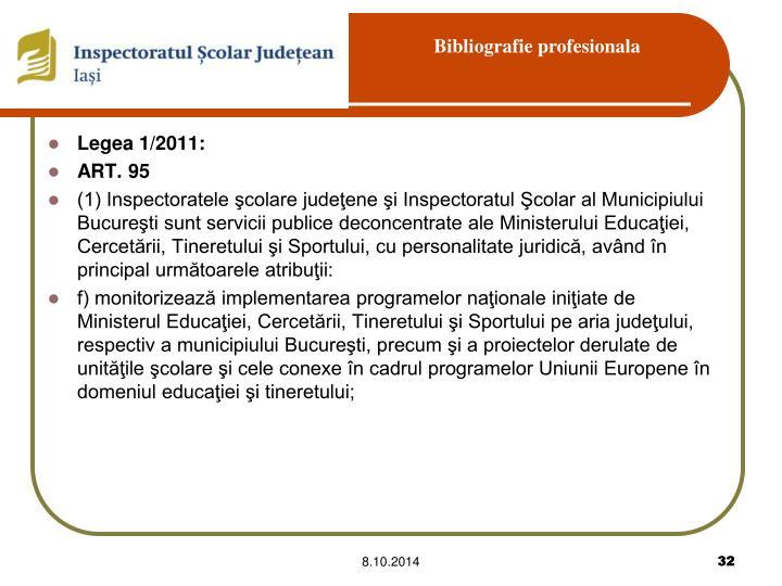 Legea 1/2011:
