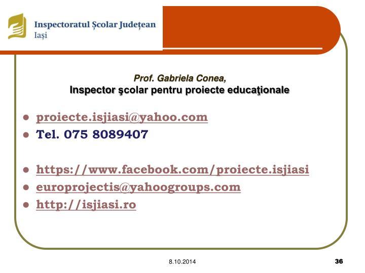 Prof. Gabriela