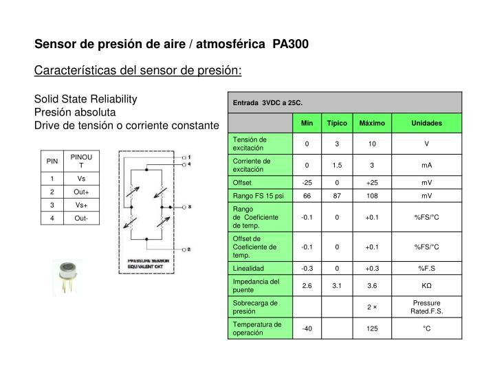 Sensor de presión de aire / atmosférica  PA300