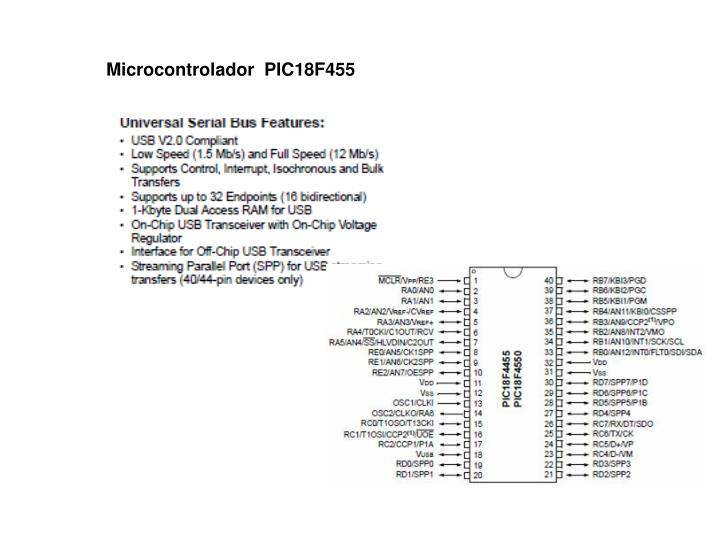 Microcontrolador  PIC18F455