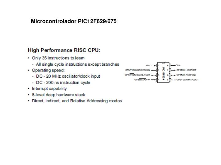 Microcontrolador PIC12F629/675