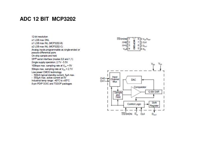 ADC 12 BIT  MCP3202