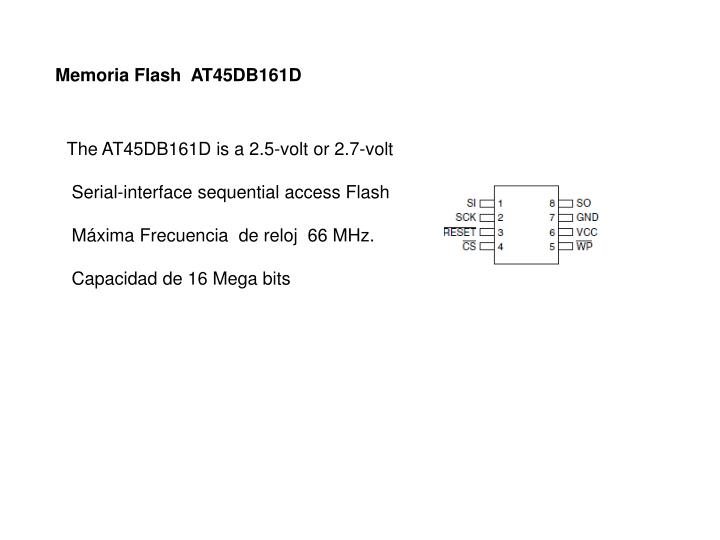 Memoria Flash  AT45DB161D