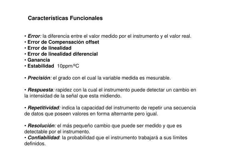 Características Funcionales