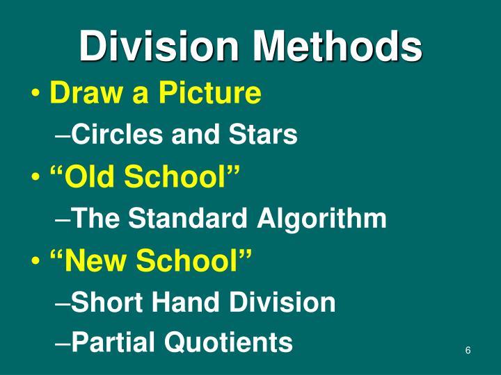 Division Methods