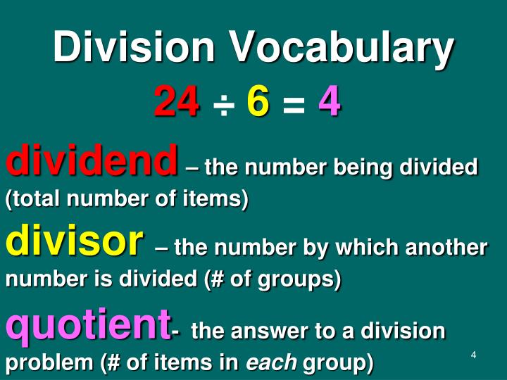 Division Vocabulary
