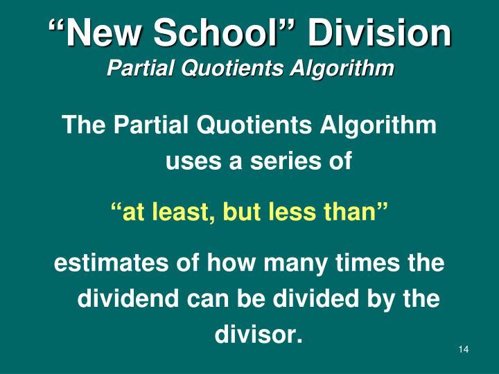 """New School"" Division"