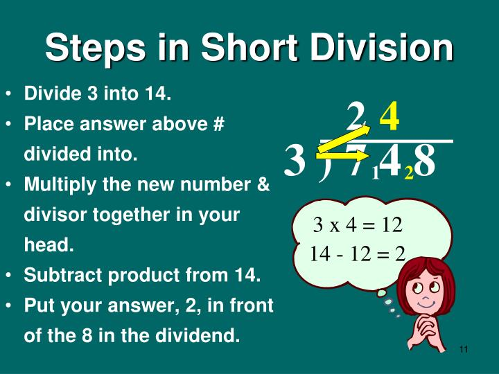 Steps in Short Division