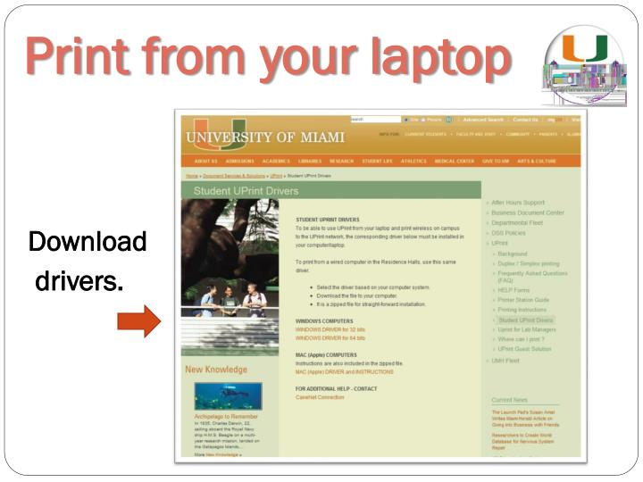 Print from your laptop