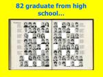 82 graduate from high school