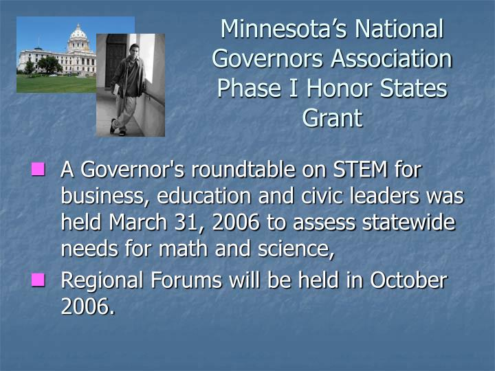 Minnesota's National Governors Association