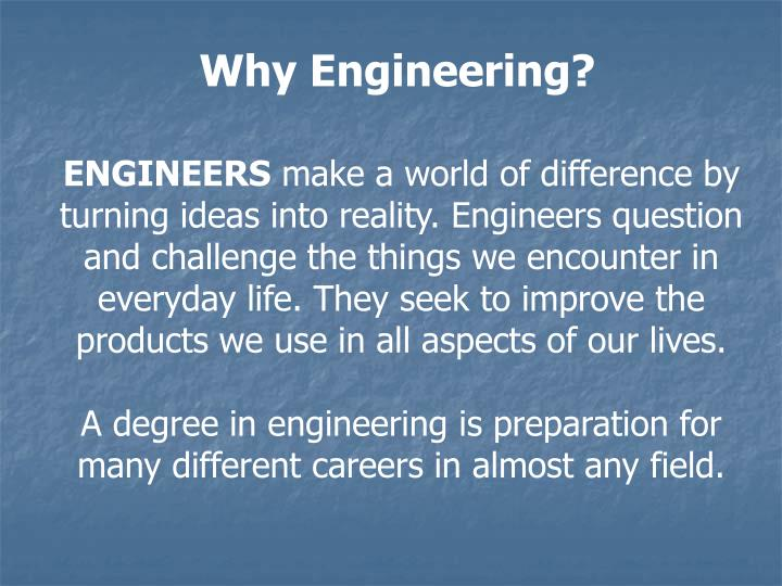 Why Engineering?