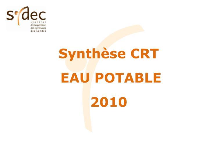Synthèse CRT