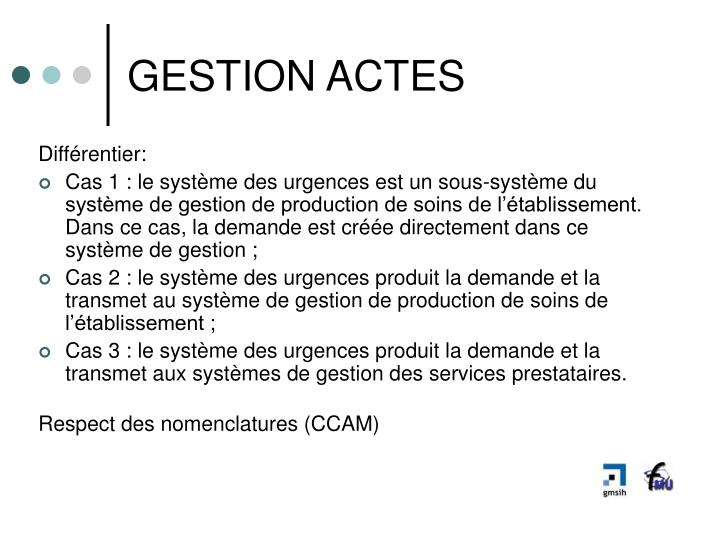 GESTION ACTES