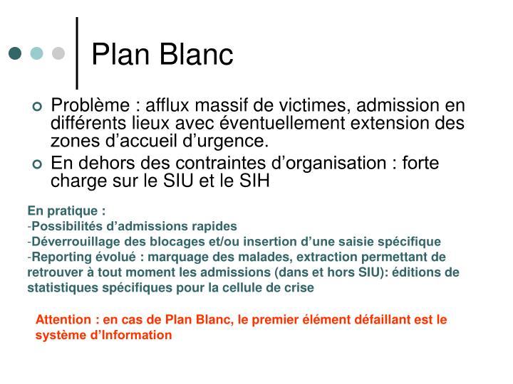 Plan Blanc