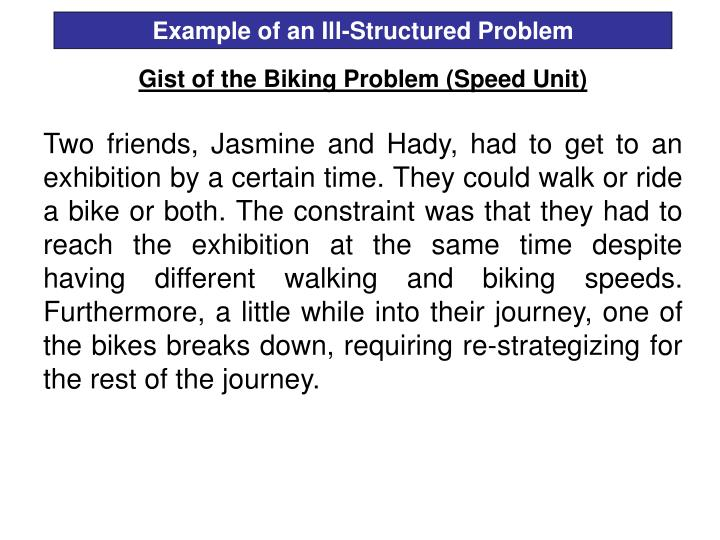 Example of an Ill-Structured Problem