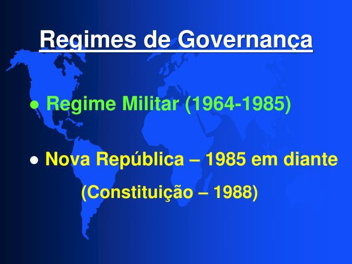 Regimes de Governança