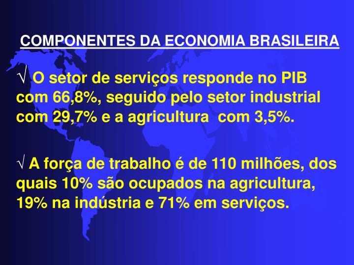 COMPONENTES DA ECONOMIA BRASILEIRA