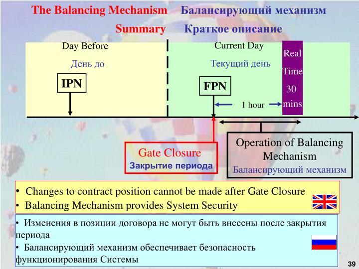 The Balancing Mechanism
