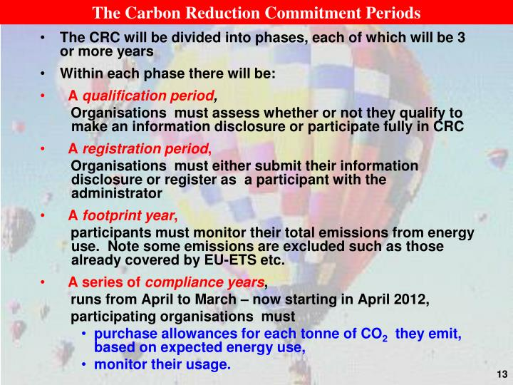 The Carbon Reduction Commitment Periods
