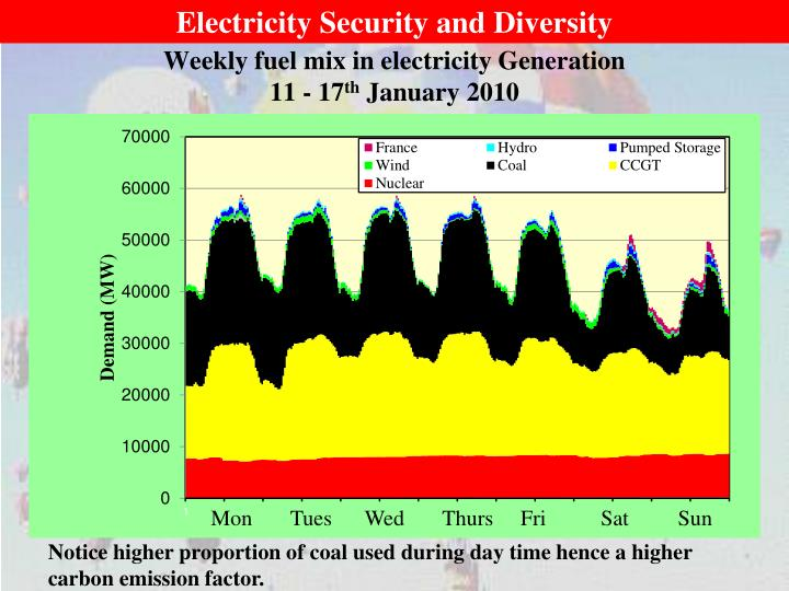 Electricity Security and Diversity