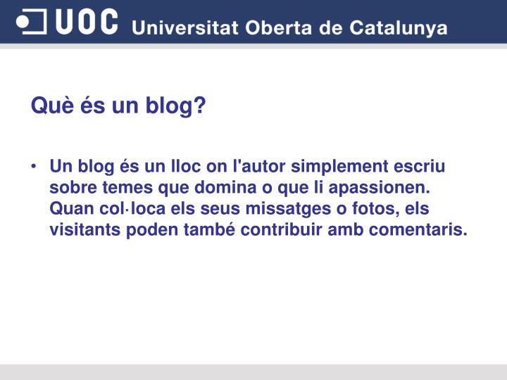 Què és un blog?