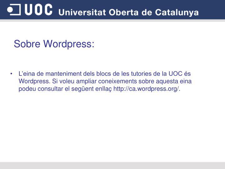 Sobre Wordpress: