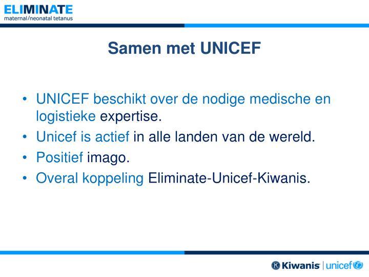 Samen met UNICEF