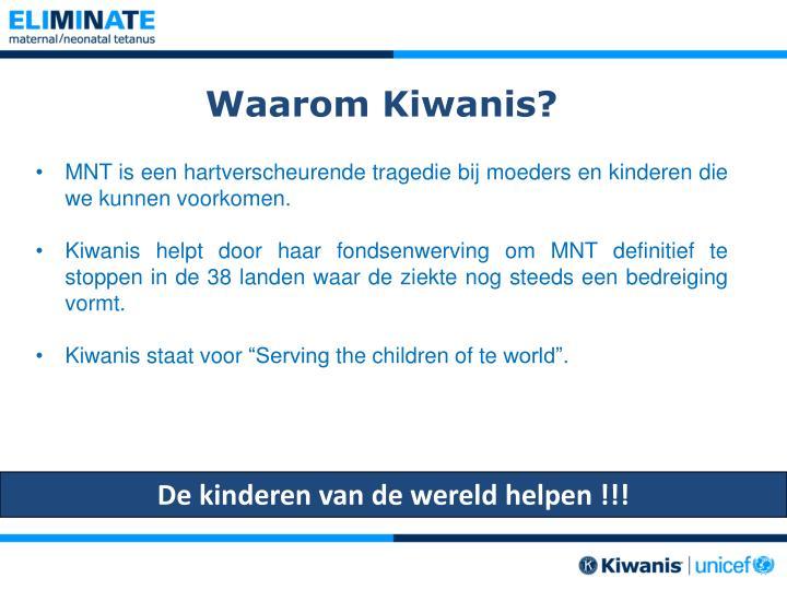 Waarom Kiwanis?